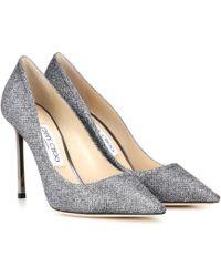 Jimmy Choo - Zapatos Romy 100 con zapato de salón y purpurina - Lyst