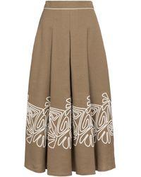 Loro Piana Dolly High-rise Linen Midi Skirt - Multicolour