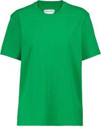 Bottega Veneta Camiseta de punto de algodón - Verde