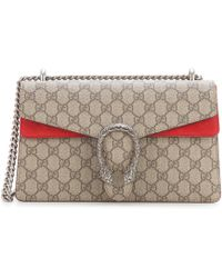 Gucci | Dionysus Gg Supreme Coated Canvas And Suede Shoulder Bag | Lyst