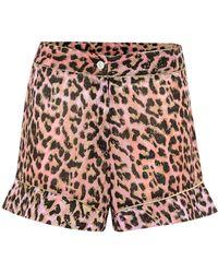 Juliet Dunn Shorts de algodón estampados - Multicolor