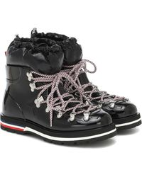Moncler Inaya Rubber And Down Snow Boots - Black