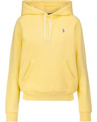 Polo Ralph Lauren Sudadera con capucha en mezcla de algodón - Amarillo