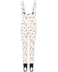 Moncler Genius Star-embroidered Stretch-twill Jumpsuit - White