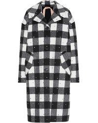 N°21 Embellished Single-breasted Coat - Black