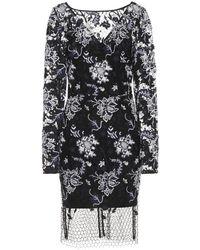 Diane von Furstenberg Embroidered Lace Dress - Black