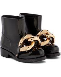 JW Anderson Stivali in gomma con catena - Metallizzato