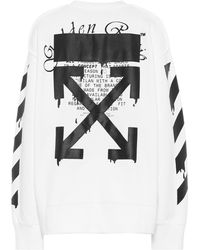 Off-White c/o Virgil Abloh Printed Cotton Sweatshirt - White