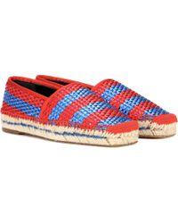 Balenciaga - Bazar Striped Raffia-effect Espadrilles - Lyst