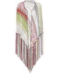 Missoni Stola in maglia con frange - Multicolore