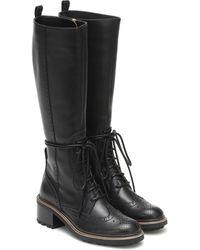 Chloé Franne Leather Knee-high Boots - Black