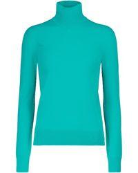 Bottega Veneta Jersey de cuello alto - Azul