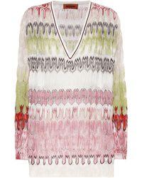 Missoni Pullover aus Häkelstrick - Mehrfarbig