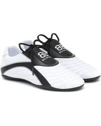 Balenciaga Zen Zweifarbige Sneakers Aus Gestepptem Kunstleder - Weiß
