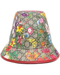 Gucci GG Flora Cotton-blend Bucket Hat - Natural