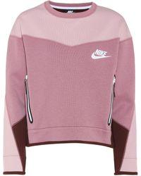 Nike Cotton-blend Cropped Sweater - Purple