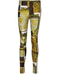 Versace Bedruckte Leggings Barocco - Mehrfarbig