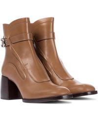 Chloé Ankle Boots Gaile aus Leder - Braun