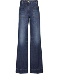 Victoria Beckham Alina High-rise Wide-leg Jeans - Blue