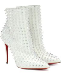 Christian Louboutin Exclusive To Mytheresa – Snakilta 100 Leather Ankle Boots - Multicolor