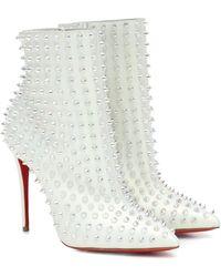 Christian Louboutin Exklusiv bei Mytheresa – Ankle Boots Snakilta 100 aus Leder - Mehrfarbig