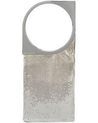 Paco Rabanne Silver-tone Op'art Bag - Metallic