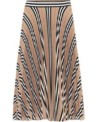 Burberry Falda Icon Stripe de crepé - Neutro