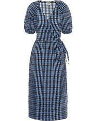 Baum und Pferdgarten Adalaine Gingham Wrap Dress - Blue