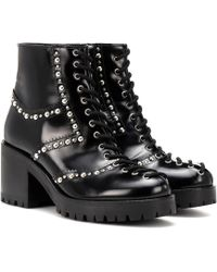 McQ - Hannah Studded Leather Ankle Boots - Lyst