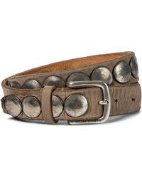 Golden Goose Deluxe Brand Trinidad Studded Nubuck Belt - Brown