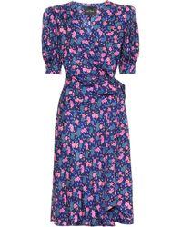 Marc Jacobs Wrap Silk Dress - Blue