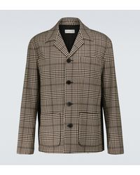 Dries Van Noten Wool And Cotton Checked Jacket - Black