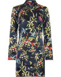 F.R.S For Restless Sleepers Vestido corto de seda Menezio - Multicolor