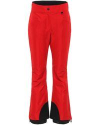 3 MONCLER GRENOBLE Pantaloni da sci flared - Rosso