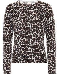 Jardin Des Orangers Leopard-print Merino Wool Jumper - Brown