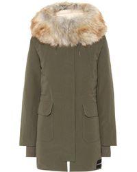 Calvin Klein - Down Parka With Faux Fur Trim - Lyst