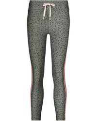 The Upside Teeny Leopard-print Cropped leggings - Green