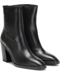 Stuart Weitzman Wynter 80 Leather Ankle Boots - Black