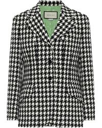 Gucci - Wool And Cotton Houndstooth Blazer - Lyst