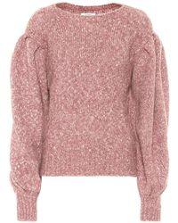 Étoile Isabel Marant Pullover Shaelyn in misto alpaca e cotone - Rosa