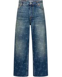 Balenciaga High-rise Cropped Wide-leg Jeans - Blue