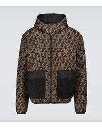 Fendi Ff Padded Reversible Jacket - Blue