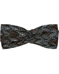 Missoni Haarband aus Häkelstrick - Blau