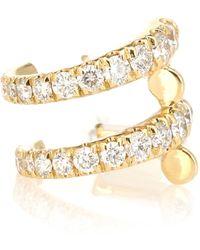 Melissa Kaye Lola 18kt Gold Ear Cuff With Diamonds - Metallic