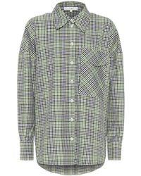 Tibi Utility Checked Shirt - Green