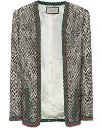 Gucci Tweed Wool Blazer - Multicolor