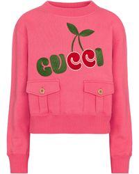 Gucci Pullover aus Baumwolle - Pink