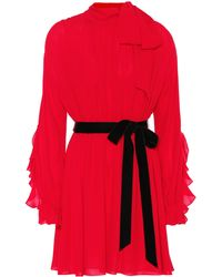 Valentino - Silk Minidress - Lyst