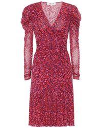 Diane von Furstenberg Abito Alyssa a stampa floreale - Rosso