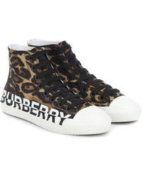 Burberry Larkhall Logo High-top Trainers - Brown